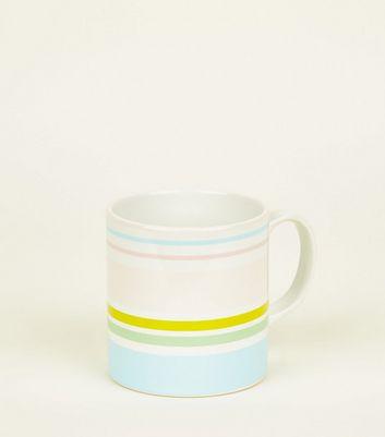 Pastel Rainbow Stripe Mug by New Look