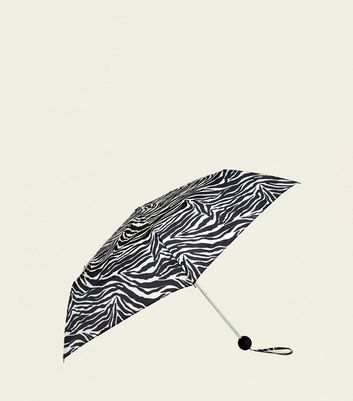 Monochrome Zebra Print Collapsible Umbrella