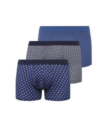 3 Pack Blue Star and Geometric Trunks