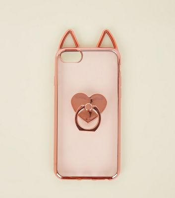 Rose Gold Cat Ring Holder iPhone 6/6s/7/8