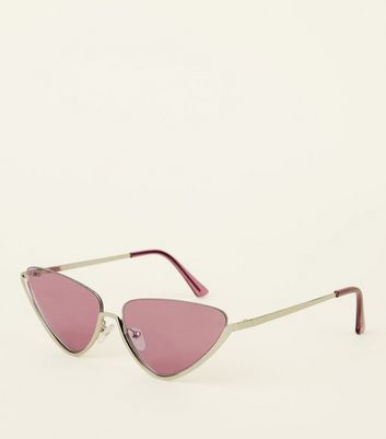 Lilac Tinted Cat Eye Sunglasses