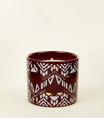 Purple Aztec Orange Scented Candle