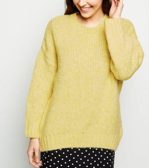f194c1f3289e83 Yellow Knitwear | Mustard Jumpers & Cardigans | New Look