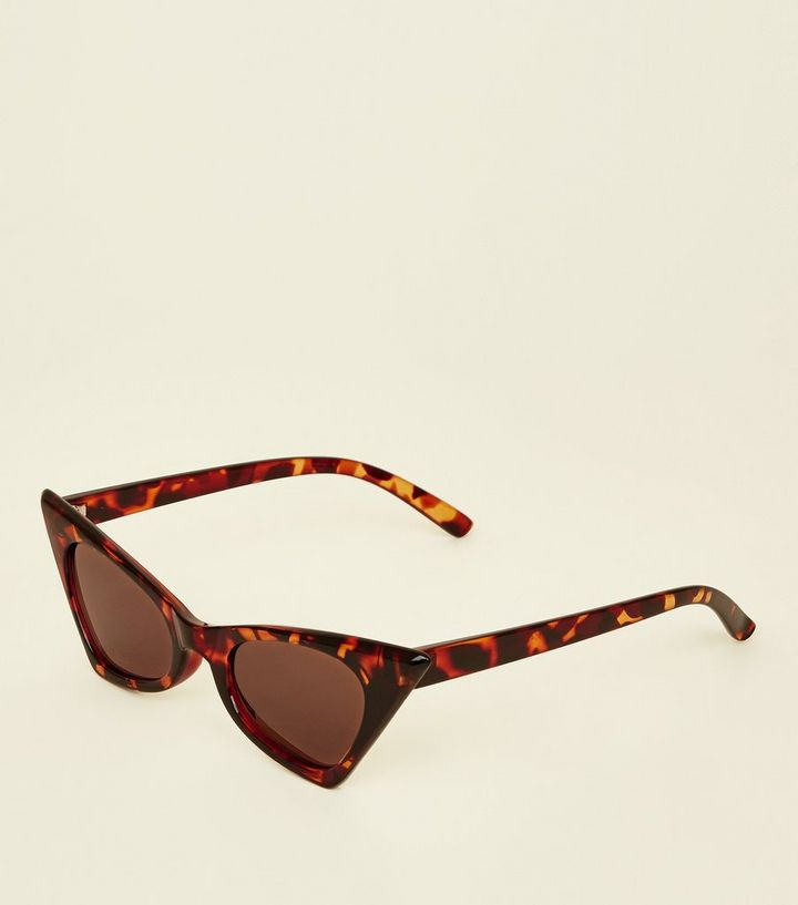 4296cf01b4f Dark Brown Tortoiseshell Print Cat Eye Sunglasses