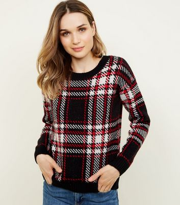 Red and Black Check Jumper