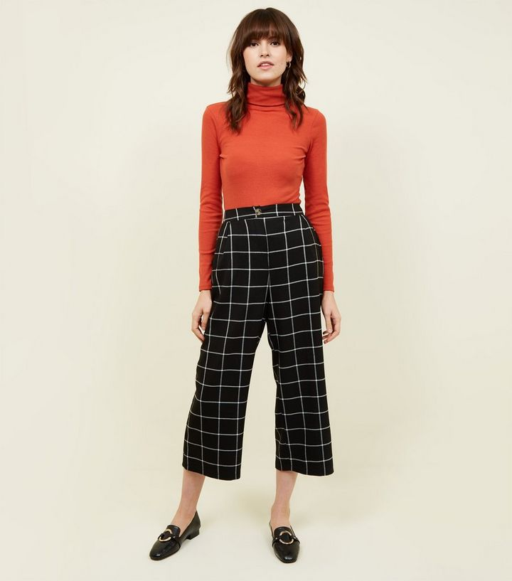 detailed images clear-cut texture wholesale dealer Black Grid Check Cropped Trousers Add to Saved Items Remove from Saved Items