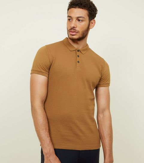 7258b976 Mens Stone T-Shirts | Camel Coloured Tees | New Look