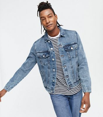 Blue Bleach Wash Denim Western Jacket