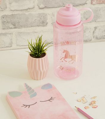 Pink Always Sparkle Unicorn Slogan 1 Litre Water Bottle