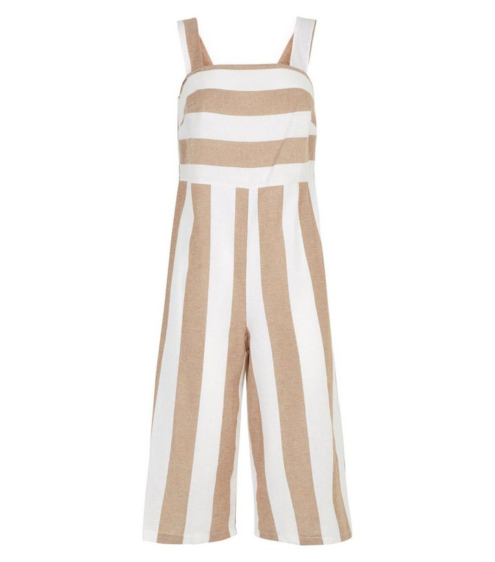 222ad56a992 ... Brown Stripe Cropped Jumpsuit. ×. ×. ×. Shop the look