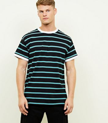 Mint Green Stripe Ringer T-Shirt