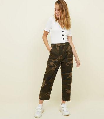 Pantalon Supprimer De Wishlist À Motif Ajouter Petite Utility Kaki Court Camouflage La PkXiZOu