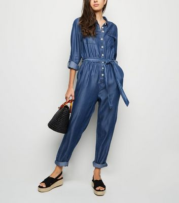 Blue Lightweight Boiler Jumpsuit