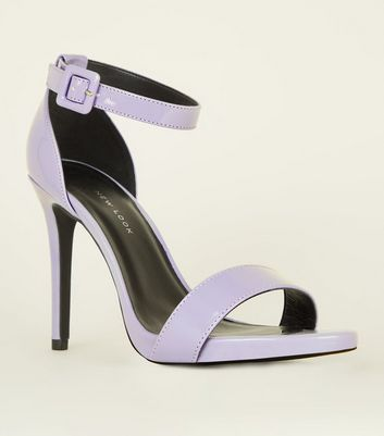 Wide Fit Lilac Patent Stiletto Heels