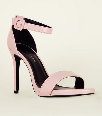 Wide Fit Pink Patent Stiletto Heels