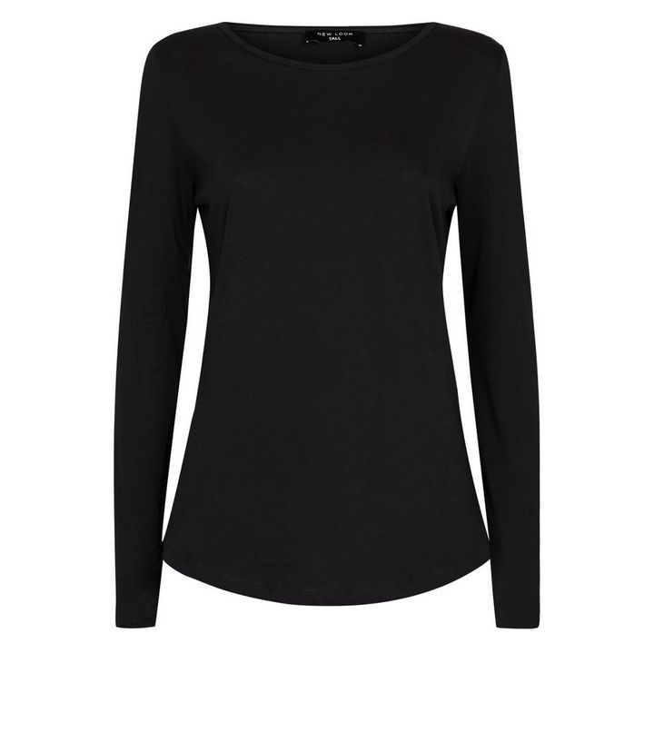 24b3415a9 Tall Black Long Sleeve Crew Neck Top Add to Saved Items Remove from Saved  Items