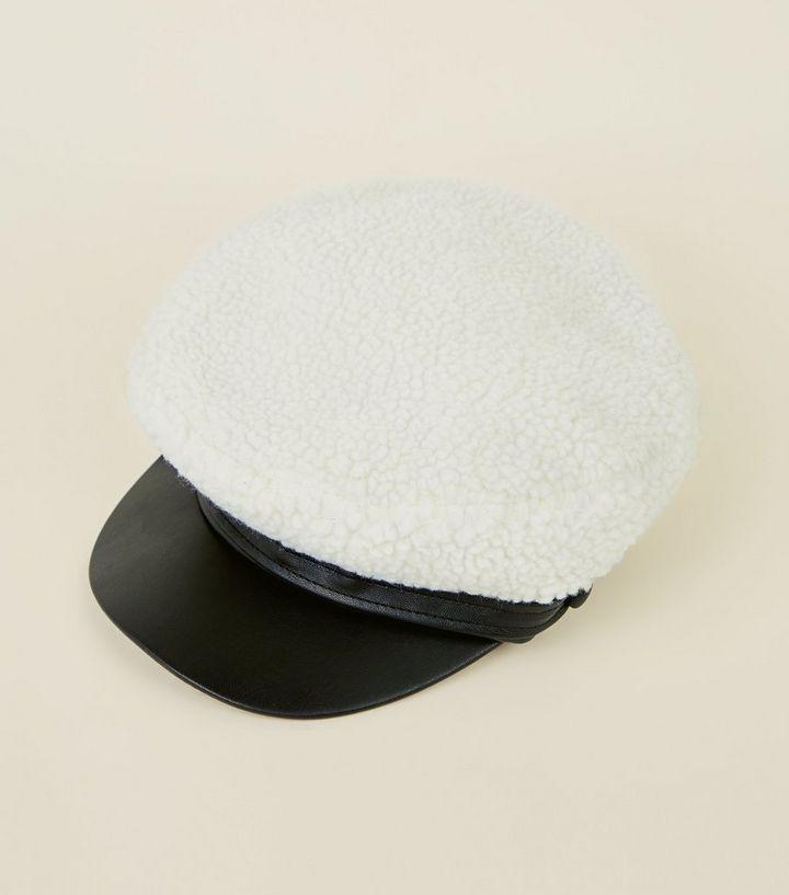Cream Borg Baker Boy Hat  cd703ad5e76