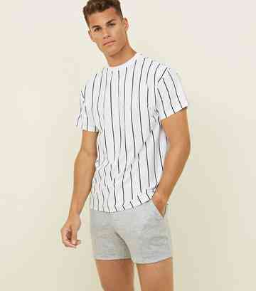 Pale Grey Marl Jersey Shorts