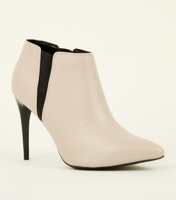 Off White Stiletto Heel Chelsea Shoe Boots