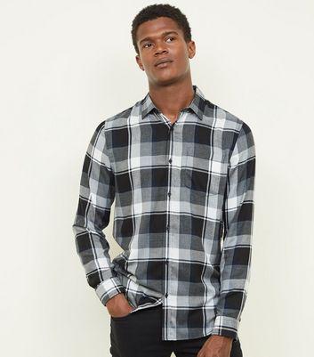 de claro manga a Camisa de larga Buffalo cuadros gris xHqw06aY 2241430beb5