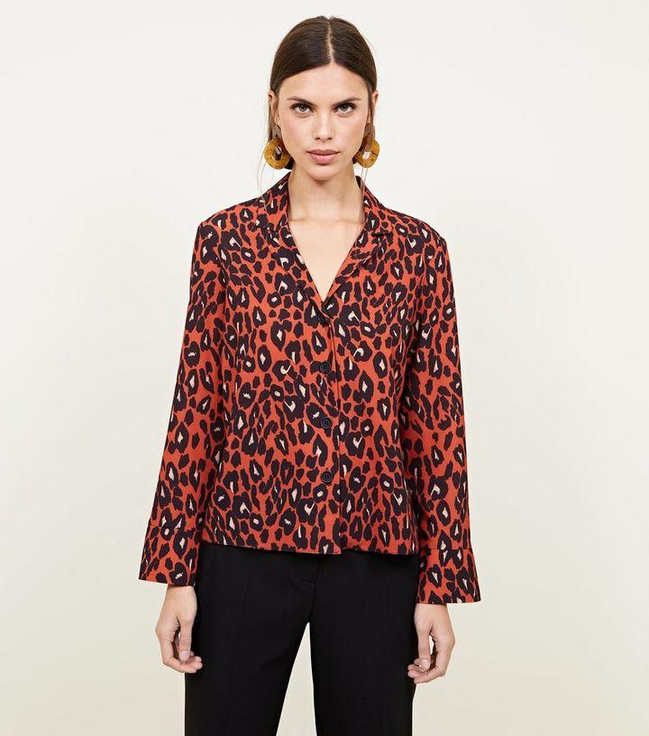 bada7e22989d Brown Leopard Print Crepe Shirt | New Look