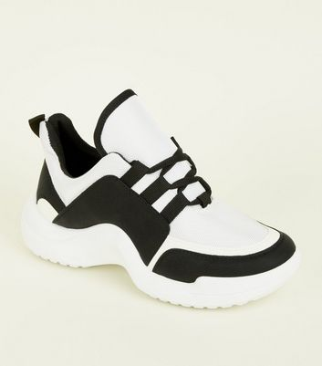 Black Curve Sole Chunky Trainers