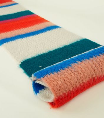 Multicoloured Stripe Extra Long Knit Scarf