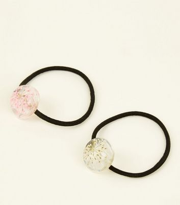 2 Pack Pink and White Dried Flower Hairbands