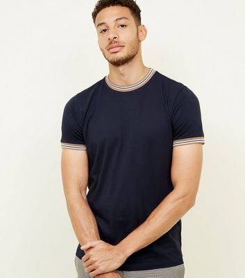 Navy Tipped T-Shirt