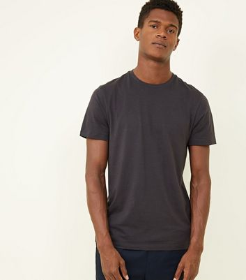 Dark Grey Crew Neck T-Shirt