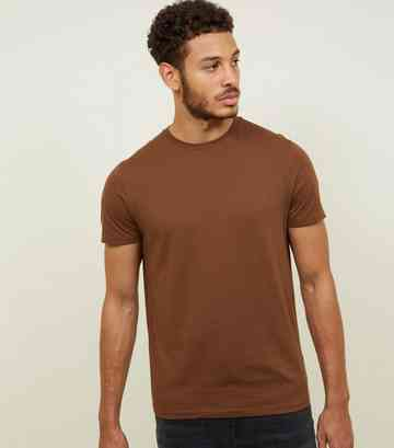 Mid Brown Crew Neck T-Shirt