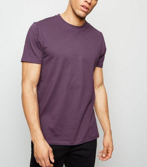 1b9eafec662 ... Purple Crew Neck T-Shirt ...