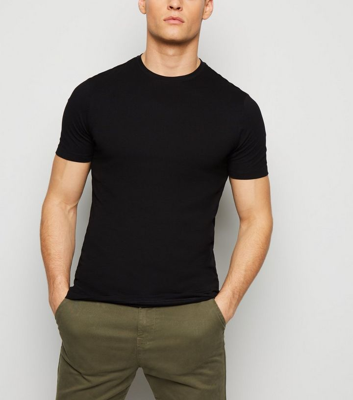 low cost best authentic entire collection Black Muscle Fit T-Shirt Add to Saved Items Remove from Saved Items