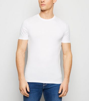 T-shirt blanc Muscle Fit