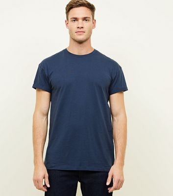 Navy Rolled Sleeve T-Shirt