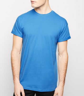 Bright Blue Rolled Sleeve T-Shirt