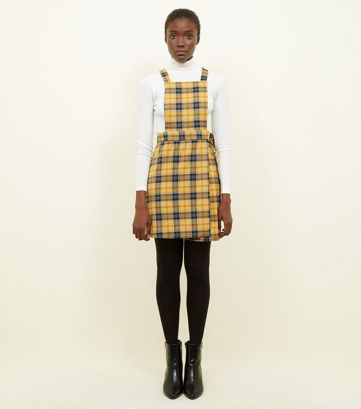 7d1e304461 ... Yellow Check Wrap Skirt Pinafore Dress. ×. ×. ×. Shop the look