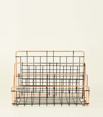 Black Wire Grid Memo Rack