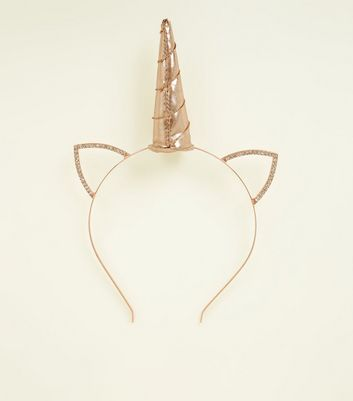 Rose Gold Unicorn Horn Headband