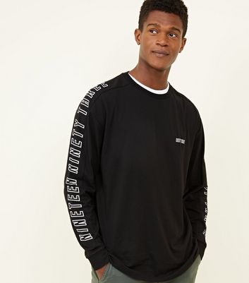 Black Long Sleeve 1993 Slogan T-Shirt