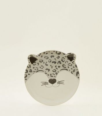 Dark Grey Snow Leopard Face Plate