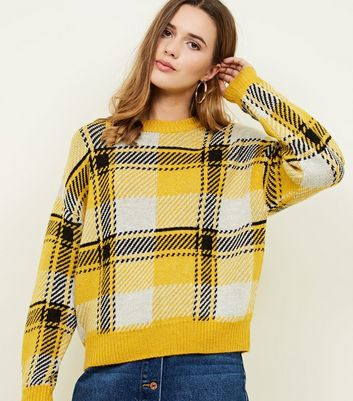 Yellow Brushed Check Jumper