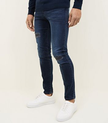 Blue Ripped Skinny Skinny Jeans