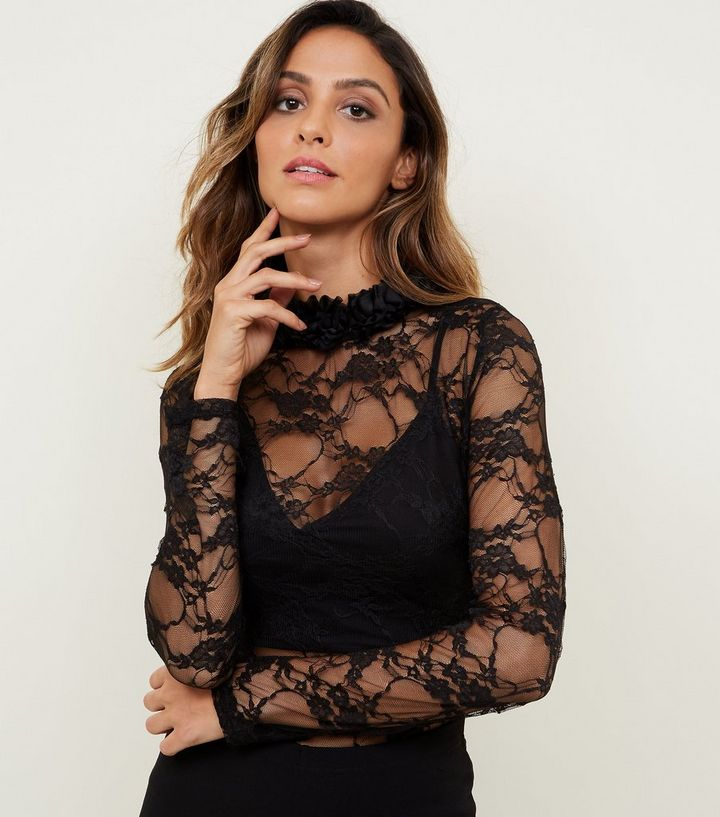 59c26e7c9d57 Carpe Diem Black Lace Bodysuit | New Look