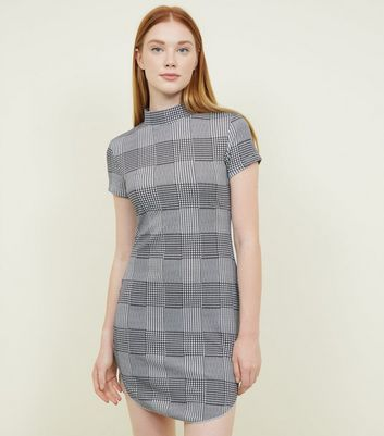 AX Paris Black Check High Neck Dress