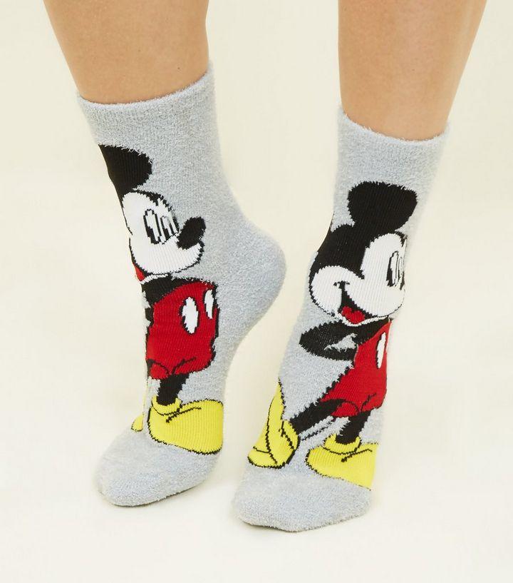 Grey Disney Mickey Mouse Socks | New Look