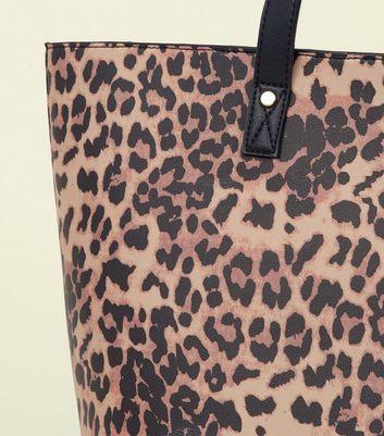 Brown Leopard Print Tote Bag New Look