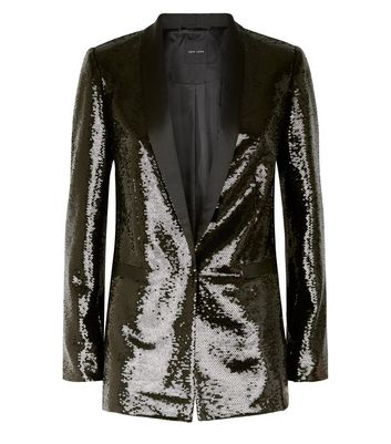 factory new products for on feet shots of Black Sequin Blazer Add to Saved Items Remove from Saved Items