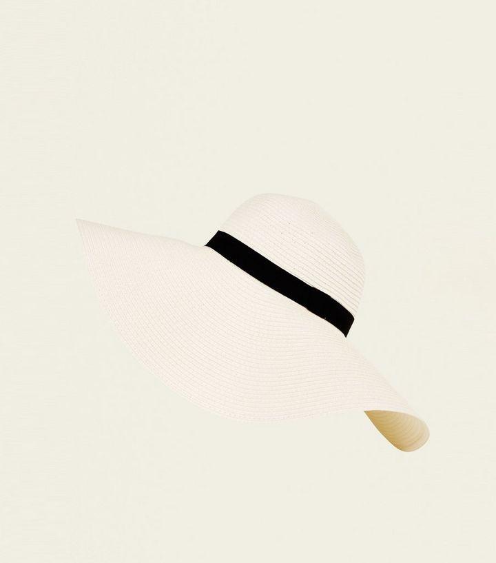 946193393c9 Cream Straw Effect Oversized Floppy Hat