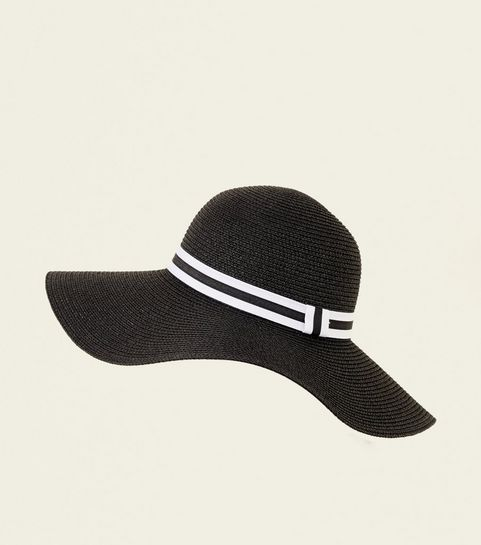 1133f15fb96 ... White Stripe Band Floppy Hat ...